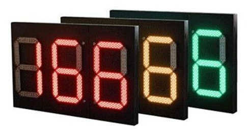 1250*800 3 Digits Tri- Color Countdown Timer: